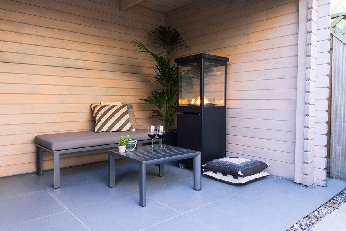 Sunwood, Marino, Patio heater on gas, Gas heater, Gas fire, Wine, Fire, Garden, Backyard