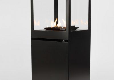 black patio heater
